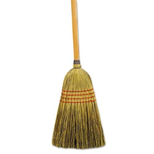 "Maid Broom, Mixed Fiber Bristles, 55"" Long, Natural, 12/Carton. Picture 1"