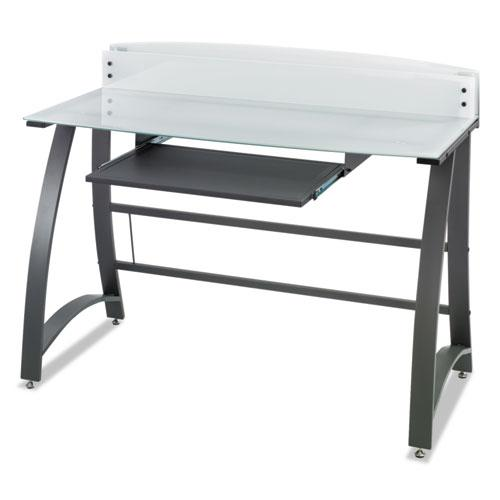 """Xpressions 47"""" Computer Desk, 47"""" x 23"""" x 37"""", Frosted/Black. Picture 3"""
