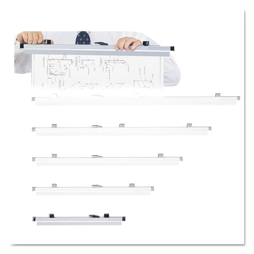 Sheet File Hanging Clamps, 100 Sheets Per Clamp, 19.75w, 6/Carton. Picture 1