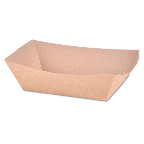 Paper Food Baskets, 1 lb Capacity, Brown Kraft, 1,000/Carton. Picture 1