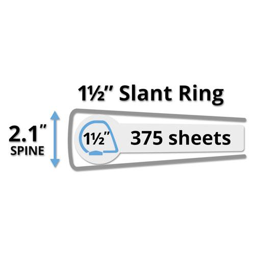 """Durable View Binder with DuraHinge and Slant Rings, 3 Rings, 1.5"""" Capacity, 11 x 8.5, Black. Picture 3"""