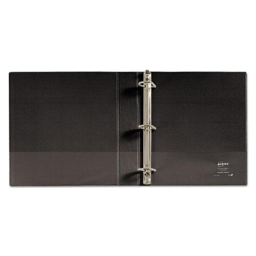 """Durable View Binder with DuraHinge and Slant Rings, 3 Rings, 1.5"""" Capacity, 11 x 8.5, Black. Picture 8"""