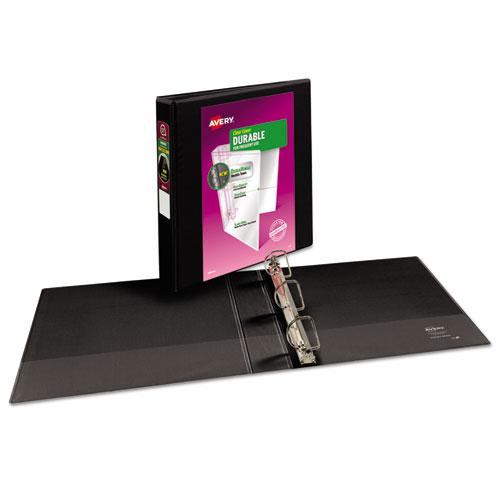 """Durable View Binder with DuraHinge and Slant Rings, 3 Rings, 1.5"""" Capacity, 11 x 8.5, Black. Picture 6"""