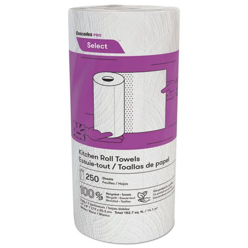 Select Kitchen Roll Towels, 2-Ply, 8 x 11, 250/Roll, 12/Carton. Picture 1