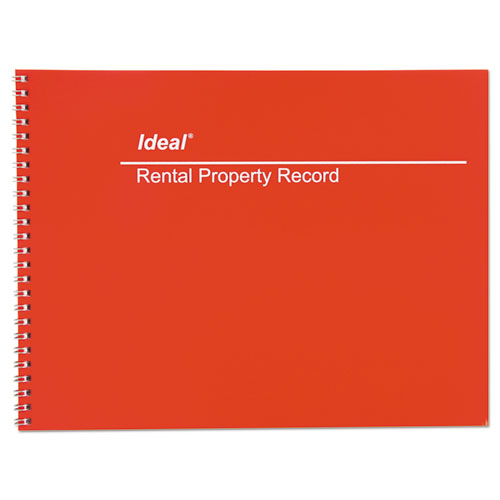 Rental Property Record Book, 8 1/2 x 11, 60-Page Wirebound Book. Picture 1