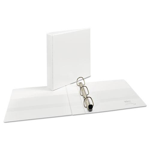 "Heavy-Duty View Binder with DuraHinge and One Touch EZD Rings, 3 Rings, 1.5"" Capacity, 11 x 8.5, White. Picture 4"