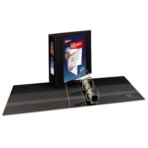 """Heavy-Duty View Binder with DuraHinge and Locking One Touch EZD Rings, 3 Rings, 3"""" Capacity, 11 x 8.5, Black. Picture 9"""