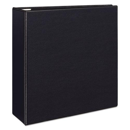 """Heavy-Duty View Binder with DuraHinge and Locking One Touch EZD Rings, 3 Rings, 4"""" Capacity, 11 x 8.5, Black. Picture 10"""