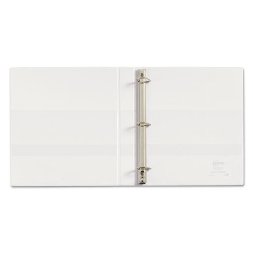 "Heavy-Duty Non Stick View Binder with DuraHinge and Slant Rings, 3 Rings, 1"" Capacity, 11 x 8.5, White, (5304). Picture 6"