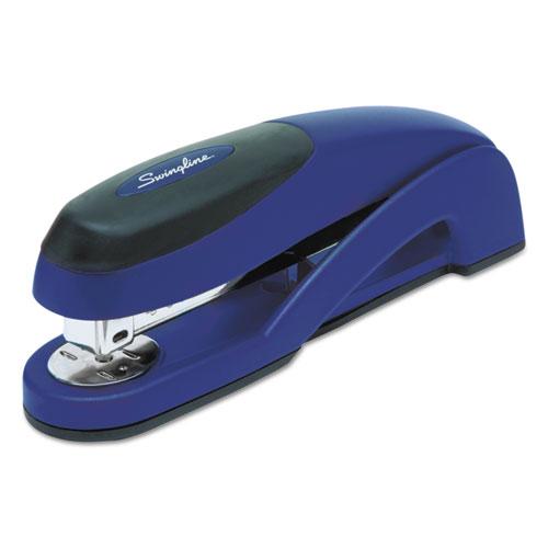 Optima Full Strip Desk Stapler, 25-Sheet Capacity, Metallic Blue. Picture 1