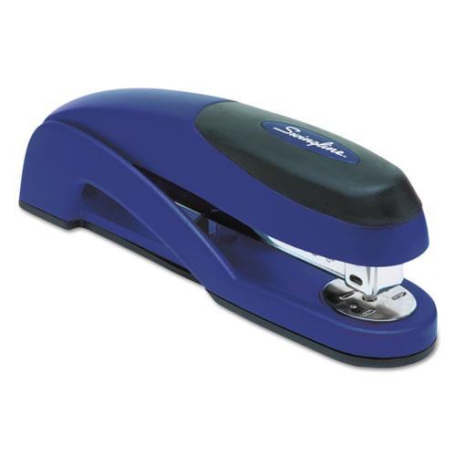 Optima Full Strip Desk Stapler, 25-Sheet Capacity, Metallic Blue. Picture 3