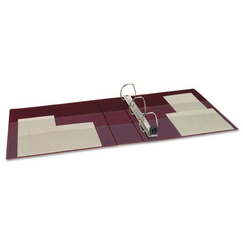 """Heavy-Duty Non-View Binder with DuraHinge and One Touch EZD Rings, 3 Rings, 2"""" Capacity, 11 x 8.5, Maroon. Picture 3"""
