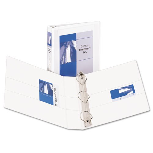 """Durable View Binder with DuraHinge and EZD Rings, 3 Rings, 1.5"""" Capacity, 11 x 8.5, White. Picture 1"""