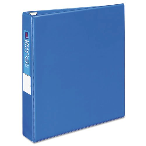 """Heavy-Duty Non-View Binder with DuraHinge and One Touch EZD Rings, 3 Rings, 1.5"""" Capacity, 11 x 8.5, Blue. Picture 7"""