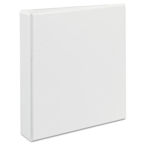 """Durable View Binder with DuraHinge and EZD Rings, 3 Rings, 1.5"""" Capacity, 11 x 8.5, White. Picture 7"""