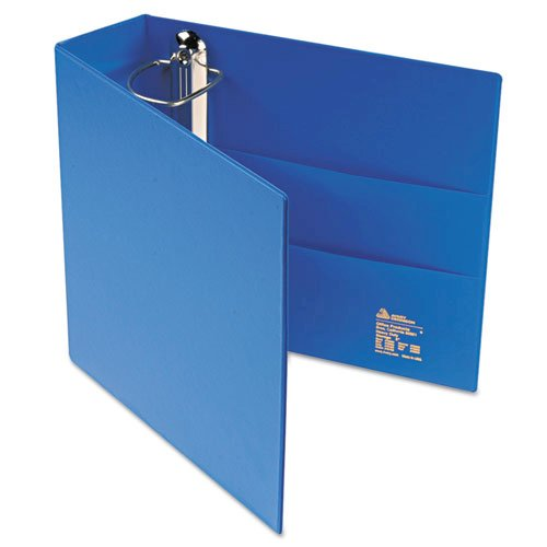 "Heavy-Duty Non-View Binder with DuraHinge and Locking One Touch EZD Rings, 3 Rings, 3"" Capacity, 11 x 8.5, Blue. Picture 7"