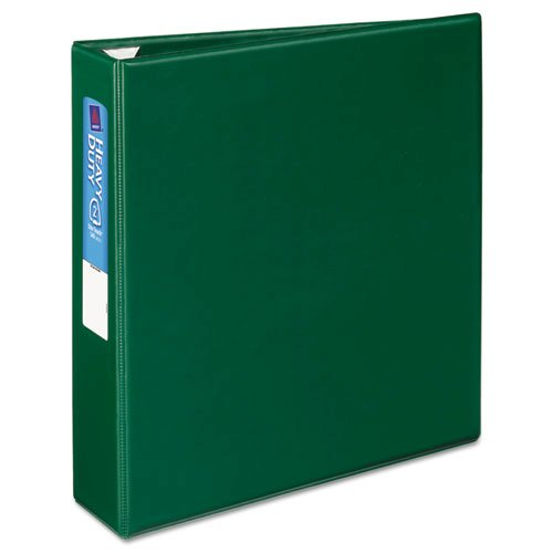"""Heavy-Duty Non-View Binder with DuraHinge and One Touch EZD Rings, 3 Rings, 2"""" Capacity, 11 x 8.5, Green. Picture 8"""