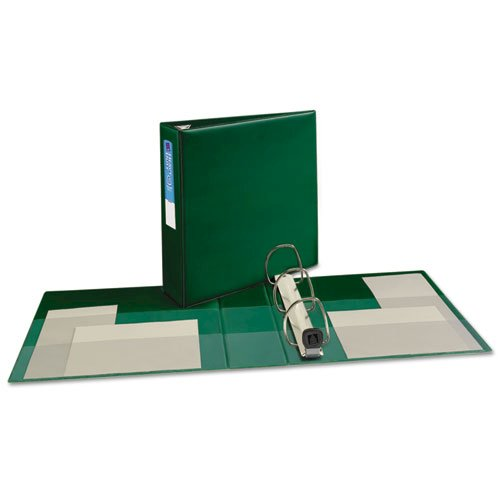 """Heavy-Duty Non-View Binder with DuraHinge and Locking One Touch EZD Rings, 3 Rings, 3"""" Capacity, 11 x 8.5, Green. Picture 3"""