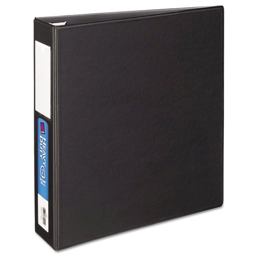 """Heavy-Duty Non-View Binder with DuraHinge and One Touch EZD Rings, 3 Rings, 2"""" Capacity, 11 x 8.5, Black. Picture 8"""