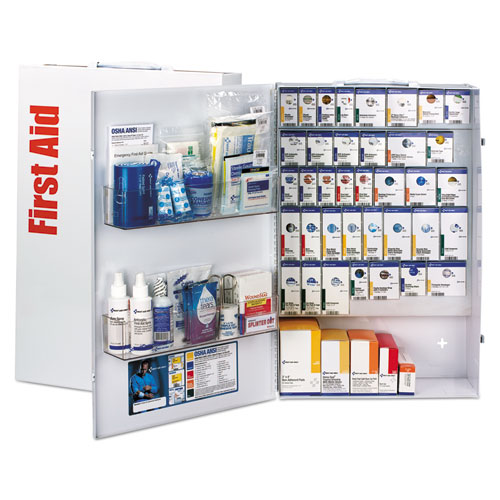 ANSI 2015 Smart Comp Foodservice First Aid Cabinet w/o Meds, 200 People, 784 Pcs. Picture 1