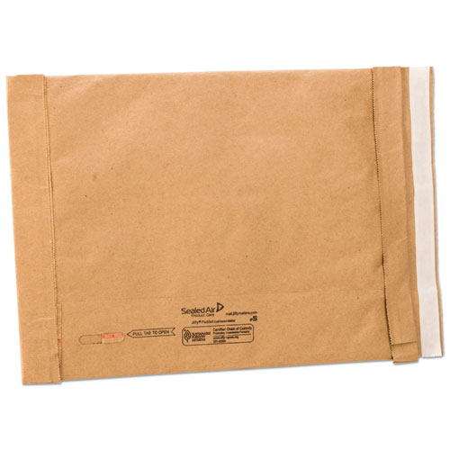Jiffy Padded Mailer, #5, Paper Lining, Self-Adhesive Closure, 10.5 x 16, Natural Kraft, 25/Carton. Picture 1