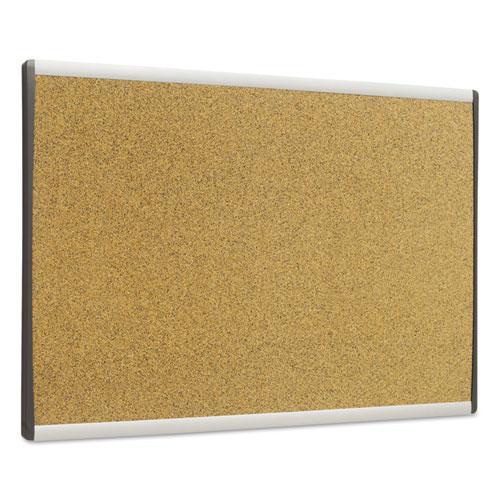 ARC Frame Cork Cubicle Board, 18 x 30, Tan, Aluminum Frame. Picture 3
