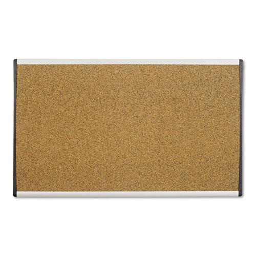 ARC Frame Cork Cubicle Board, 18 x 30, Tan, Aluminum Frame. Picture 1