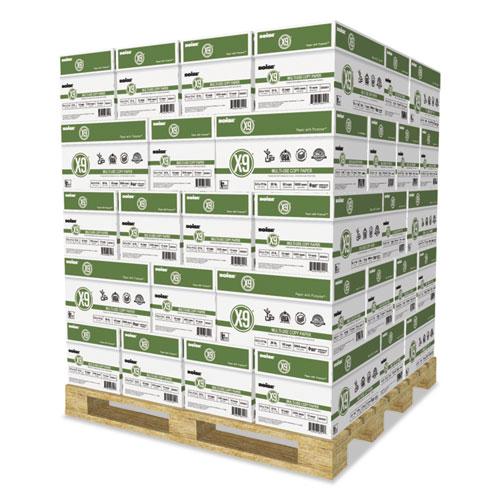 X-9 Multi-Use Copy Paper, 92 Bright, 20lb, 8.5 x 11, White, 500 Sheets/Ream, 10 Reams/Carton, 40 Cartons/Pallet. Picture 1
