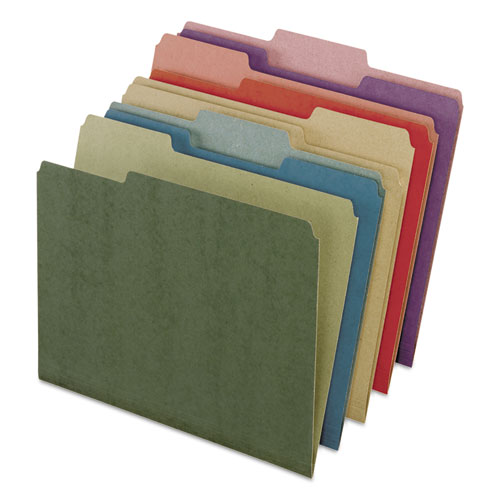 Earthwise by 100% Recycled Colored File Folders, 1/3-Cut Tabs, Letter Size, Assorted, 50/Box. Picture 1