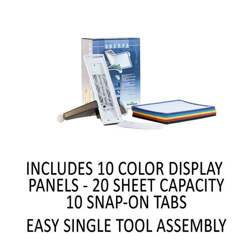 SHERPA Desk Reference System, 10 Panels, 10 x 5 5/8 x 13 7/8, Assorted Borders. Picture 7