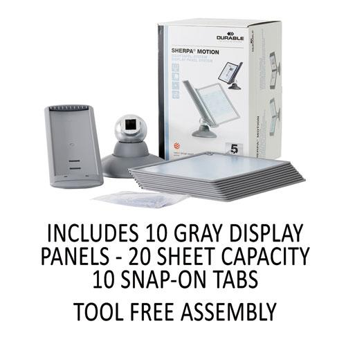 SHERPA Motion Desk Reference System, 10 Panels, Gray Borders. Picture 6