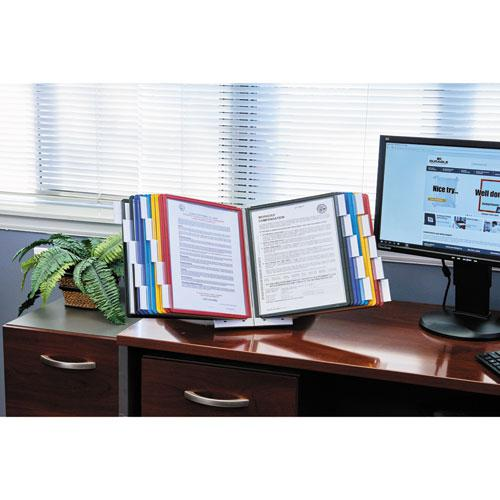 SHERPA Desk Reference System, 10 Panels, 10 x 5 5/8 x 13 7/8, Assorted Borders. Picture 12