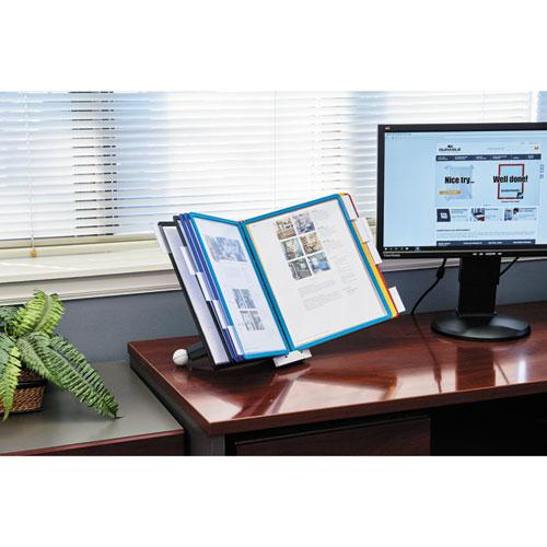 SHERPA Desk Reference System, 10 Panels, 10 x 5 5/8 x 13 7/8, Assorted Borders. Picture 11