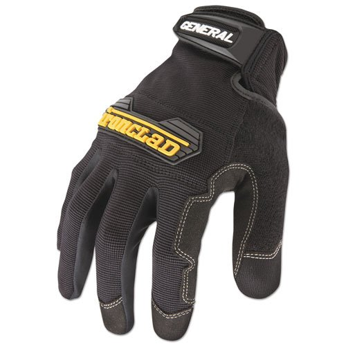 General Utility Spandex Gloves, Black, X-Large, Pair. Picture 1