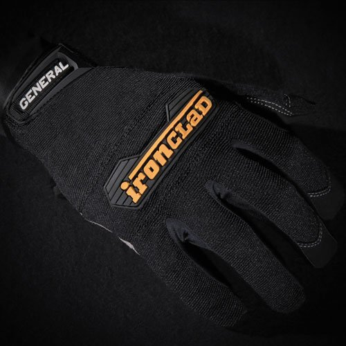 General Utility Spandex Gloves, Black, X-Large, Pair. Picture 5