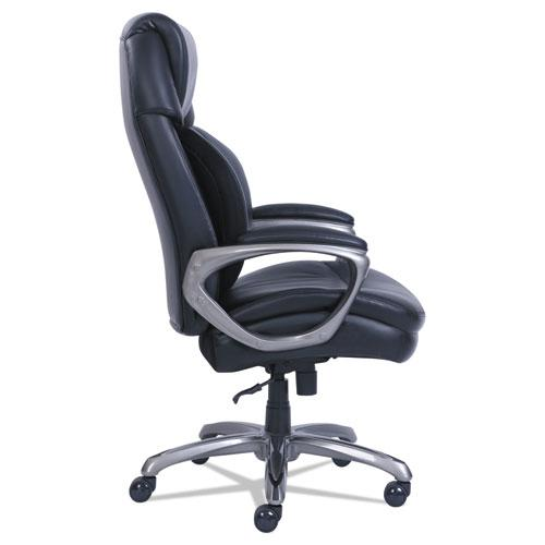 Cosset Big and Tall Executive Chair, Supports up to 400 lbs., Black Seat/Black Back, Slate Base. Picture 5