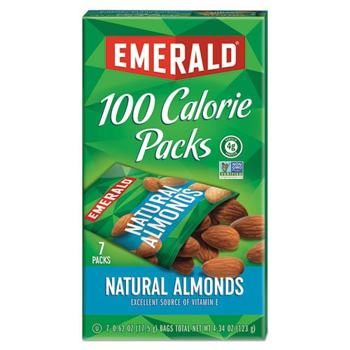 100 Calorie Pack All Natural Almonds, 0.63 oz Packs, 7/Box. Picture 1