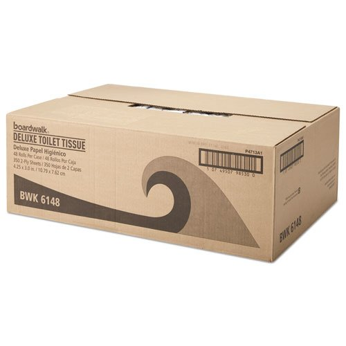 Office Packs Standard Bathroom Tissue, 2-Ply, White, 350 Sheets/RL, 48 Rolls/CT. Picture 2