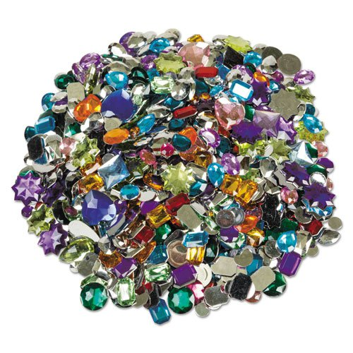 Acrylic Gemstones Classroom Pack, 1 lb, Assorted Colors/Sizes. Picture 1