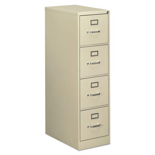 Four-Drawer Economy Vertical File Cabinet, Letter, 15w x 25d x 52h, Putty. Picture 1