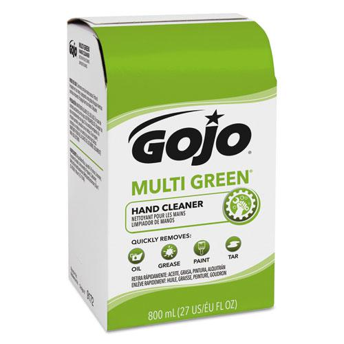MULTI GREEN Hand Cleaner 800 mL Bag-in-Box Dispenser Refill, Citrus, 12/Carton. Picture 1