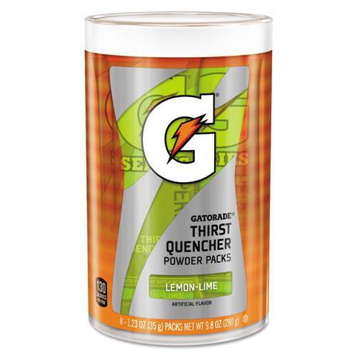 Thirst Quencher Powder Drink Mix, Lemon-Lime, 1.34oz Stick, 64/Carton. Picture 1