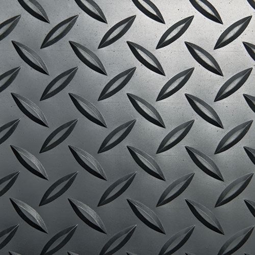 Industrial Deck Plate Anti-Fatigue Mat, Vinyl, 36 x 144, Black. Picture 2