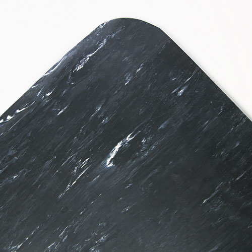 Cushion-Step Surface Mat, 36 x 60, Spiffy Vinyl, Black. Picture 1