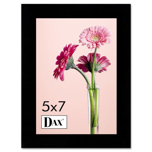 Solid Wood Photo/Picture Frame, Easel Back, 5 x 7, Black. Picture 1