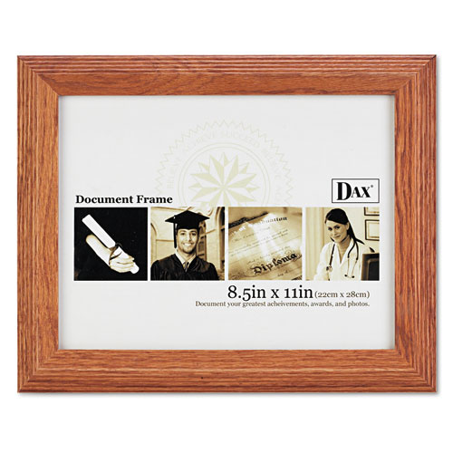 Document/Certificate Frame, Wood, 8-1/2 x 11, Stepped Oak. Picture 2