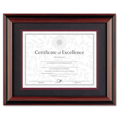 Desk/Wall Photo Frame, Plastic, 11 x 14, 8 1/2 x 11, Rosewood/Black. Picture 1