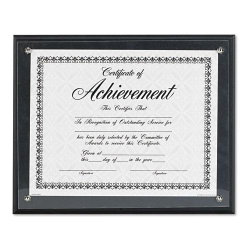 Award Plaque, Wood/Acrylic Frame, Up to 8.5 x 11, Black. Picture 2