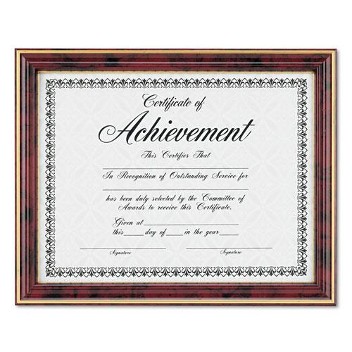 Gold-Trimmed Document Frame with Certificate, Wood, 8.5 x 11, Mahogany. Picture 5