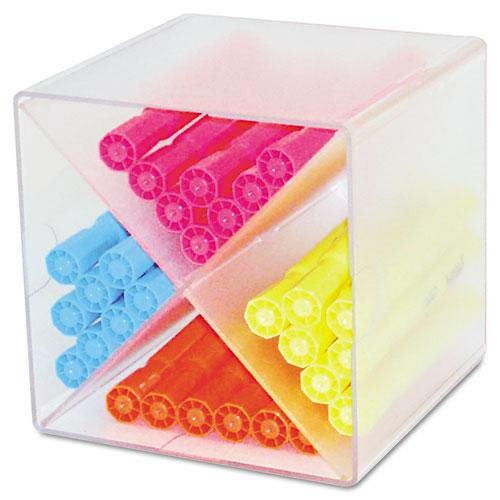 Stackable Cube Organizer, X Divider, 6 x 7 1/8 x 6, Clear. Picture 2